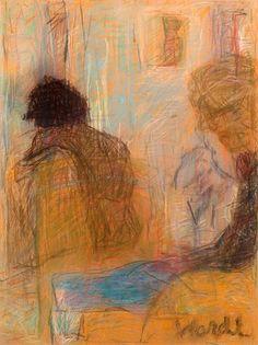 Rafael Wardi Sisäkuva 1998. Pastelli 40x30cm