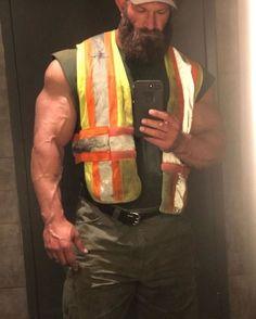 Beard And Mustache Styles, Beard No Mustache, Muscle Bear Men, Muscle Men, Muscle Fitness, Perfect Beard, Perfect Man, Hot Beards, Hard Men