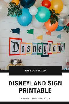 Disneyland Sign, Disneyland Birthday, Disney Sign, Disney Day, Vintage Disneyland, Disney Birthday, 19 Birthday, Kids Birthday Themes, Birthday Cakes