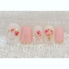 35 Simple Ideas for Wedding Nails Design Simple Wedding Nails, Wedding Nails Design, Spring Nail Art, Spring Nails, Pretty Nail Designs, Nail Art Designs, Japan Nail Art, Kawaii Nails, Japanese Nails