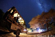 The starlit sky at our Gamewatchers Adventure Camp in Selenkay Conservancy. As we are far away from any towns there is no light pollution so the night skies are ablaze with stars and the Milky Way is an impressive sight for our guests. A photo from Samson So and Iris Yuen of the Eco Institute, Hong Kong taken during their recent stay.