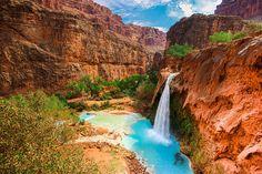 Havasupai waterfalls, Arizona