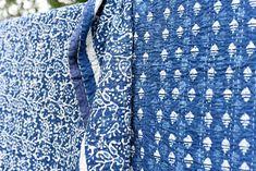 Indigo Diamond Kantha Quilt (New) - Kalyana Textiles