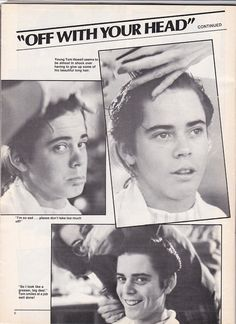 C. Thomas Howell getting his greaser cut for his role as Ponyboy Curtis.
