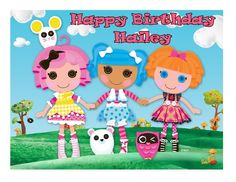 Lalaloopsy edible image cake and cupcake toppers