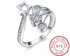 New at Garry's Discount Goods: 100% 925 Sterling... Check us out here! http://garrysdiscountgoods.com/products/100-925-sterling-silver-star-rings-for-women?utm_campaign=social_autopilot&utm_source=pin&utm_medium=pin