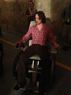 on the set for X-men :)...little bit hippie :D