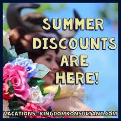 Summer 2015 Discounts have been released for Walt Disney World.  Contact us today for pricing and to book your summer vacation- no fees for our services! vacations@kingdomkonsultant.com