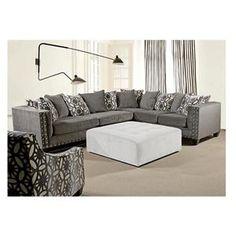 Roxanne V 2 Piece Sectional In Ash   Nebraska Furniture Mart  sc 1 st  Pinterest : nebraska furniture mart sectionals - Sectionals, Sofas & Couches