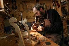 Robert Ditterich in his violin making workshop