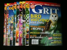 Grit Magazines Lot 10 2007 2008 2009 Back Issues Rural Community Do It Yourself