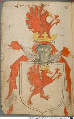 Ortenburger Wappenbuch Bayern, 1466 - 1473 Cod.icon. 308 u  Folio 74v