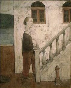 中嶋明「水辺の階梯」30F テンペラ