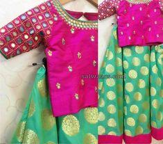 fd4a568ab8d54 Benaras Skirt Mirror Work Crop Top · Mirror Work LehengaMirror Work DressKids  Blouse ...