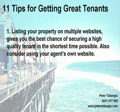 11 tips for getting great tenants (Click on image to view all 11 tips)