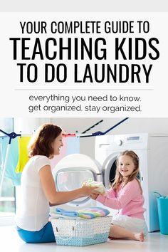 Manage your family's laundry by teaching your children how to do it. Learn everything you need to know about laundry and kids in this easy beginner guide. Toy Room Organization, Doing Laundry, Laundry Room, How To Fold Towels, How To Teach Kids, Make Your Own Clothes, Christian Parenting, Washing Clothes, Clean House
