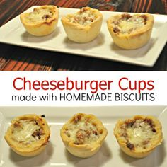 Cheeseburger Cups - I wonder if I could make veggie with quinoa and cheese instead? I'm pretty sure the kids would gobble these up