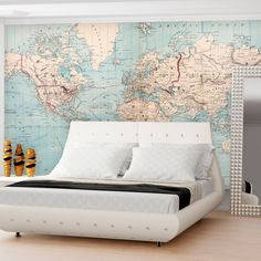 Contemporary grey world map wallpaper mural wallpaper mural at contemporary grey world map wallpaper mural wallpaper mural at allposters office space pinterest wallpaper murals contemporary and wallpaper gumiabroncs Images