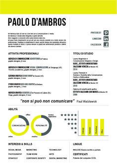 #cv #infographic #experience #skills #social