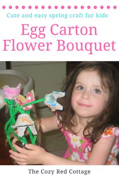 Cute and Easy Egg Carton Flower Craft
