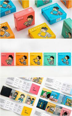 Food Branding, Food Packaging Design, Brand Packaging, Branding Design, Brie, Cheese Design, Cheese Brands, Cheese Packaging, Article Design