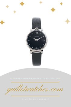 Made in Switzerland this watch is the Classic Small version of the Slide collection.The is the steel case version of the Slide Classic Small collection with a black dial, steel lugs and a black strap. Minimalist, Steel, Watches, Luxury, Classic, Stuff To Buy, Accessories, Black, Derby
