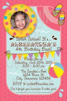 Splish Splash, it's a B-day Bash!  I like this invite but made more boyish