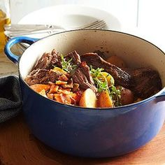 Garlic-Bacon Pot Roast From Better Homes and Gardens, ideas and improvement projects for your home and garden plus recipes and entertaining ideas.