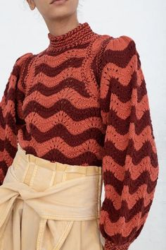 Jan 2020 - Ulla Johnson Esperanza Pullover in Burgundy Knitwear Fashion, Knit Fashion, High Fashion, Petite Fashion, Curvy Fashion, Fall Fashion, Style Fashion, Crochet Clothes, Diy Clothes