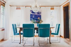 turquoise dining cha