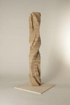 Gramazio and Kohler, The Programmed Column at ETH. Parametric Architecture, Brick Architecture, Parametric Design, Column Structure, Timber Structure, Jenga, Brick Art, Brick Detail, Column Design