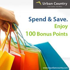 Efficient #shopping experience that only entitles you to earn bonus points with Urban Country. Simply spend & save. http://bit.ly/MyUrbanCountry