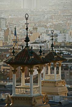 Montjuic. Vista de Barcelona des del MNAC