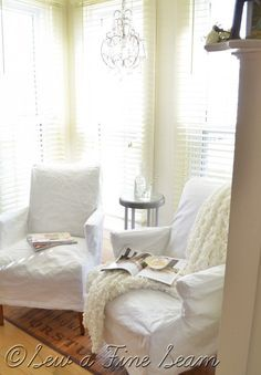 Sew A Fine Seam slipcovered chairs
