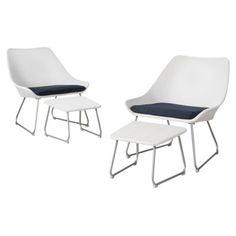 Threshold™ Holmquist 4-Piece Patio Sling Chat Furniture Set