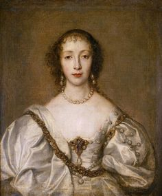 Henrietta Maria of France by van Dyck
