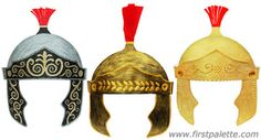 Print out, color, and assemble our template into a wearable paper Roman Imperial helmet. Wear it for Christmas pageants, Easter plays, or whenever you need a quick Roman soldier costume. Bible Crafts, Fun Crafts For Kids, Roman Soldier Costume, Family Worship Night, Helmet Of Salvation, Tapestry Of Grace, Roman Helmet, Roman Soldiers, Roman History