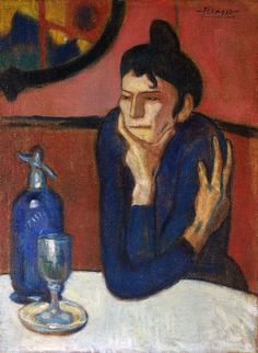 "Pablo Picasso - ""Absinthe Drinker"", 1901Pablo Picasso - More Pins Like This At FOSTERGINGER @ Pinterest"