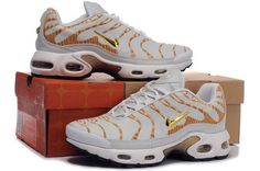 Air Max TN Mens In Gold Gray White