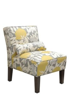 Thomas Paul Furniture Armless Chair   Peony Dove     Can I Have?