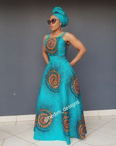 African Print Maxi Dress @ nedim_designs +27829652653