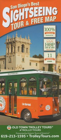 Let Old Town Trolley show you California's second largest city, where blue skies, exciting attractions and 70 miles of beaches come together to create a vacationer's paradise. Visit San Diego, Brochure Online, Free Maps, Local Activities, Transportation Services, Blue Skies, Brochures, Old Town, Beaches