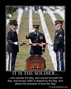 A military funeral. The American Military never forgets and always honors one of their own. A true band of brothers and sisters unlike any other. Military Quotes, Military Love, Saluting The Flag, Support Our Troops, American Pride, American History, American Flag, Native American, British History
