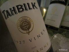 Tahbilk - worlds oldest Marsanne vines.