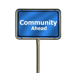 Community, Facebook, Place Name Sign, Together