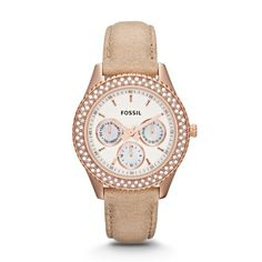 Fossil Stella Multifunction Leather Watch