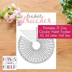 A personal favourite from my Etsy shop https://www.etsy.com/listing/520705994/circular-habit-tracker-printable-31-days