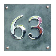 Modern large Slate and Chrome House number by AtlanticHardware