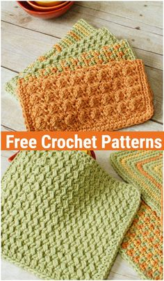 Crochet Dishcloth Patterns,Crunchy Stitch Crochet Dishcloth Pattern-I have rounded up a list of a mixture of all experienced and beginners-friendly free crochet dishcloth patterns for your… Crochet Crafts, Crochet Projects, Crochet Stitches Patterns, Crochet Dishcloths Free Patterns, Cotton Crochet Patterns, Free Crochet Patterns For Beginners, Knitting Patterns, Crochet Potholders, Knitting Designs