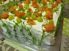 KeittiöKriitikko: Voileipäkakku 50 hengelle (kala ja kinkku) Sandwich Cake, Sandwiches, Kala, Tacos, Appetizers, Mexican, Vegetables, Ethnic Recipes, Drinks